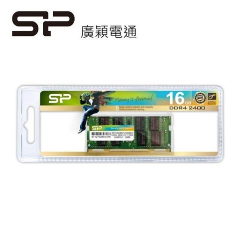 SP 16GDDR4-2400  NB 記憶體  016GBSFU240B02