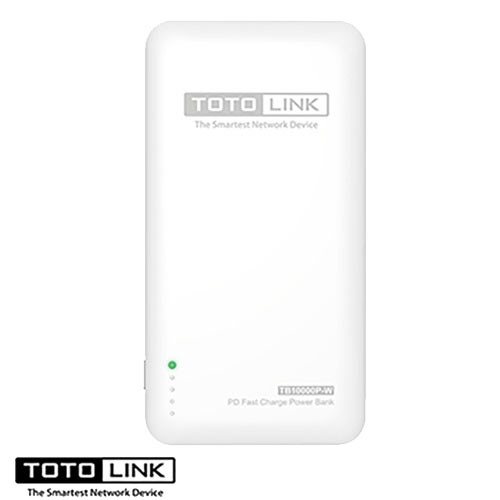 TOTOLINK Type-C雙介面PD快充行動電源 白