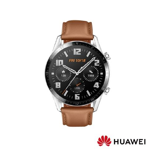 HUAWEI  WATCH GT2藍芽手錶46mm雙錶帶-砂礫棕  WATCH-GT2-BROWN