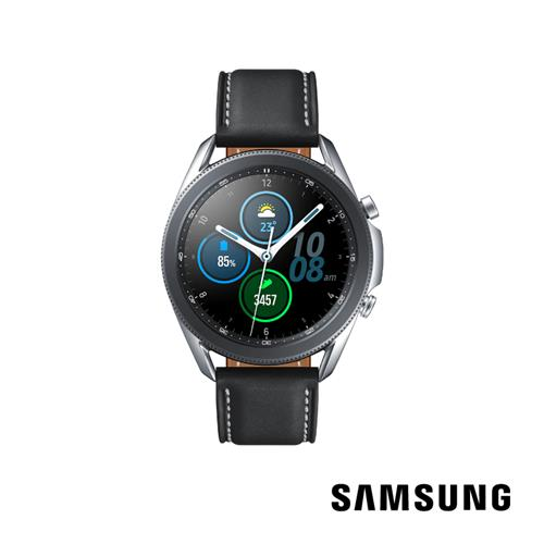 SAMSUNG Galaxy Watch3 45mm藍牙智慧手錶銀  SM-R840NZSABRI
